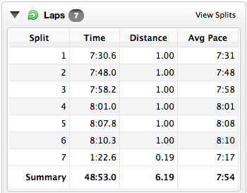 Bushy Park 10k splits