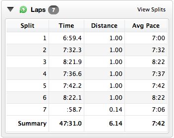 Race Splits Greenwich Park 10K