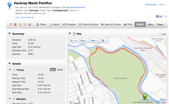Hackney Marsh ParkRun