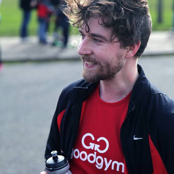 Damien Clarkson after the Love Run 10k  (picture by Ivo Gormley)